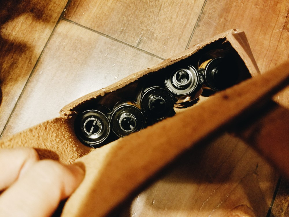 Top of Henri Pouch: Fits 5 rolls of 135mm (35mm film)
