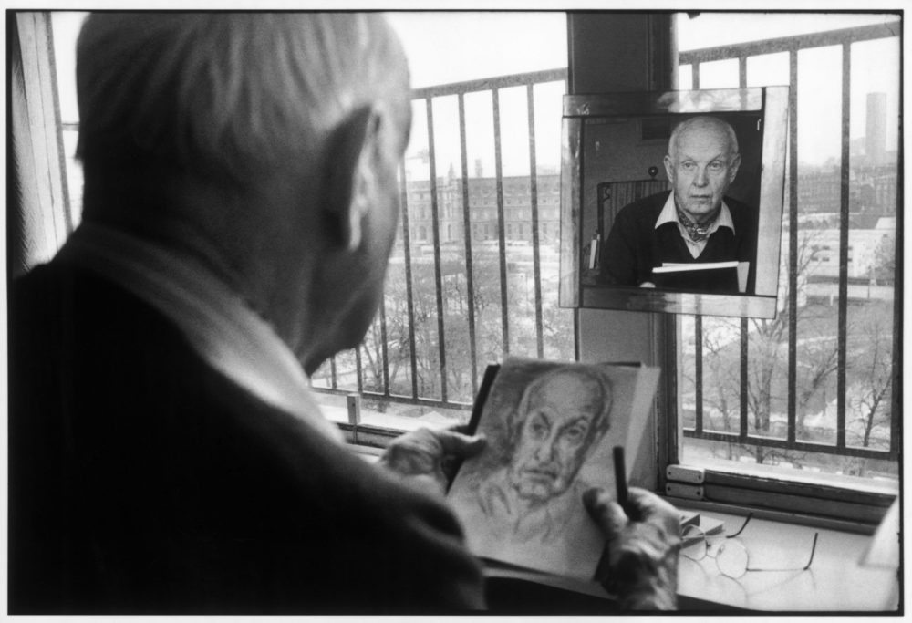 FRANCE. Paris. French photographer Henri CARTIER-BRESSON. 1992.