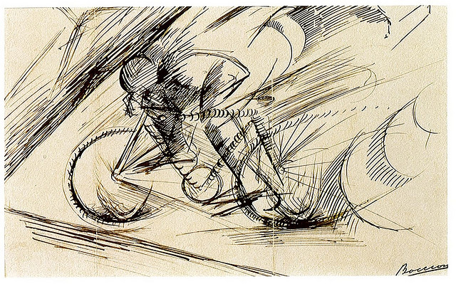 Umberto_Boccioni,_Dynamism_of_a_Cyclist_(detail),_1913