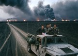 KUWAIT.Burgan burning oil fields. U.S. Marines. 1991.