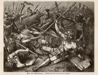 death of Tod_des_Spartacus_by_Hermann_Vogel