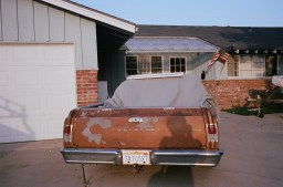 driveway and old chevorlet car eric kim only in america contact sheet4