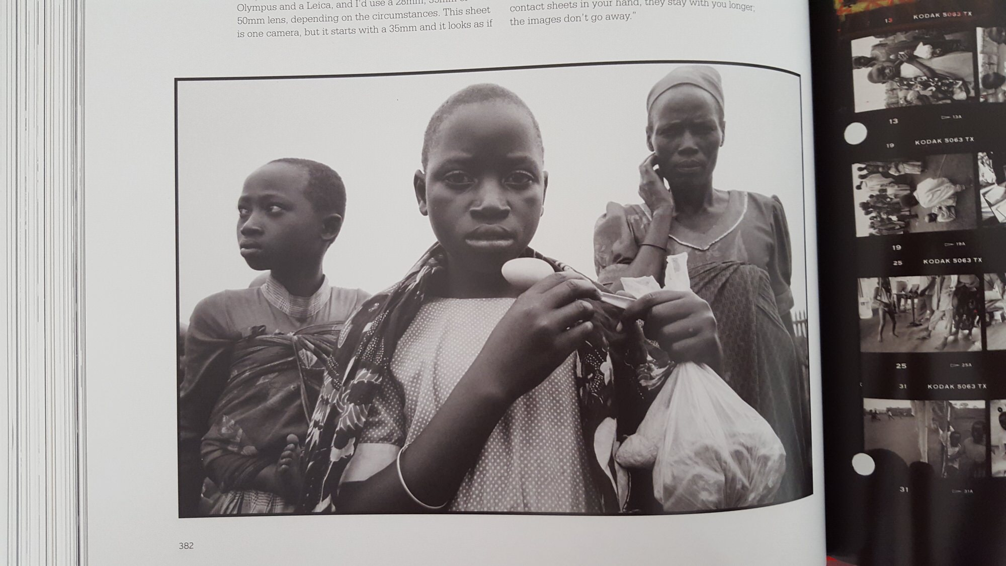 eli reed contact sheets - kids in africa2