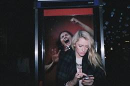 flash woman phone portra 400 eric kim