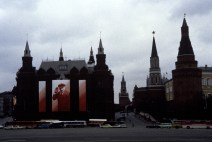 USSR. Moscow. 1988. Decoration. Red Square. ©Inge Morath/Magnum Photos
