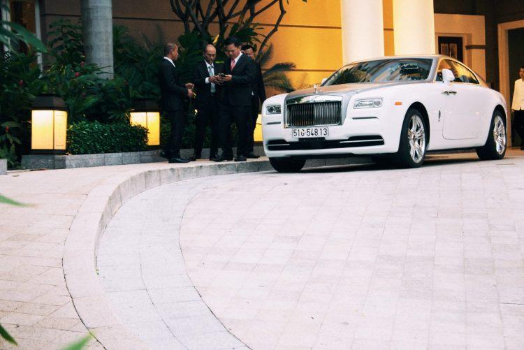 Rolls Royce in front of Sheraton hotel. Saigon, 2018
