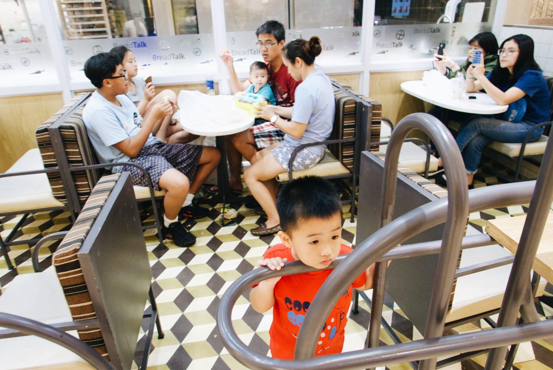 Family at Saigon Center Mall, 2018