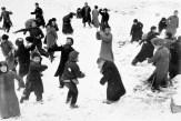 CHINA. Hankou. March, 1938. Children playing in the snow.