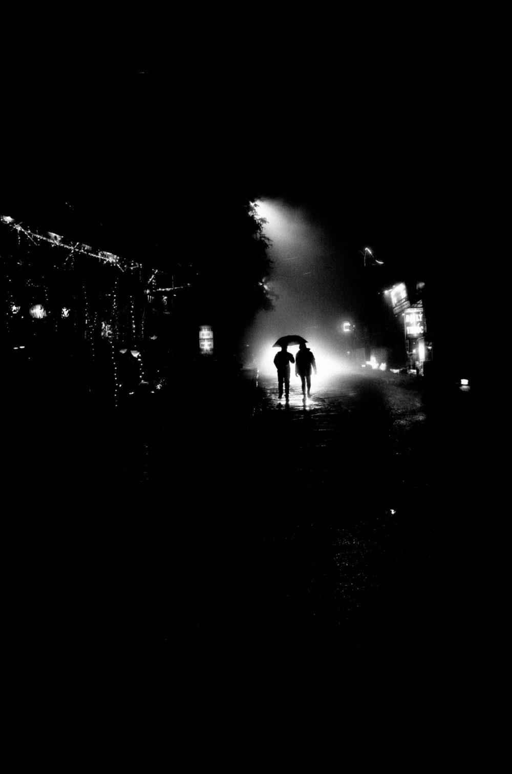 Black and white street photo