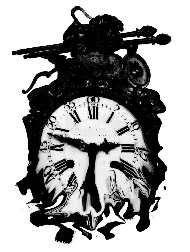 melting clock by Annette kim