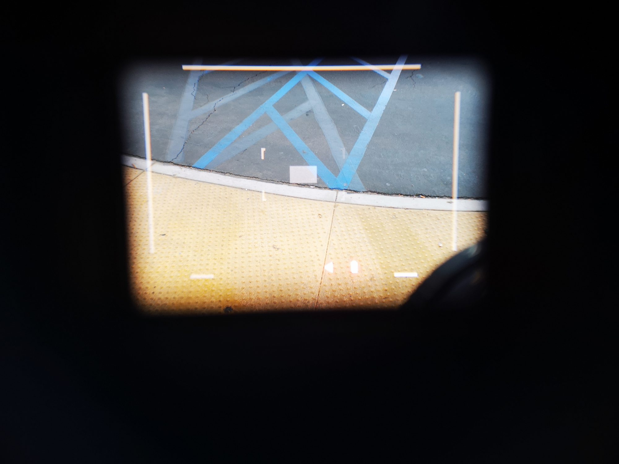 What the viewfinder lines look like when looking through a Leica