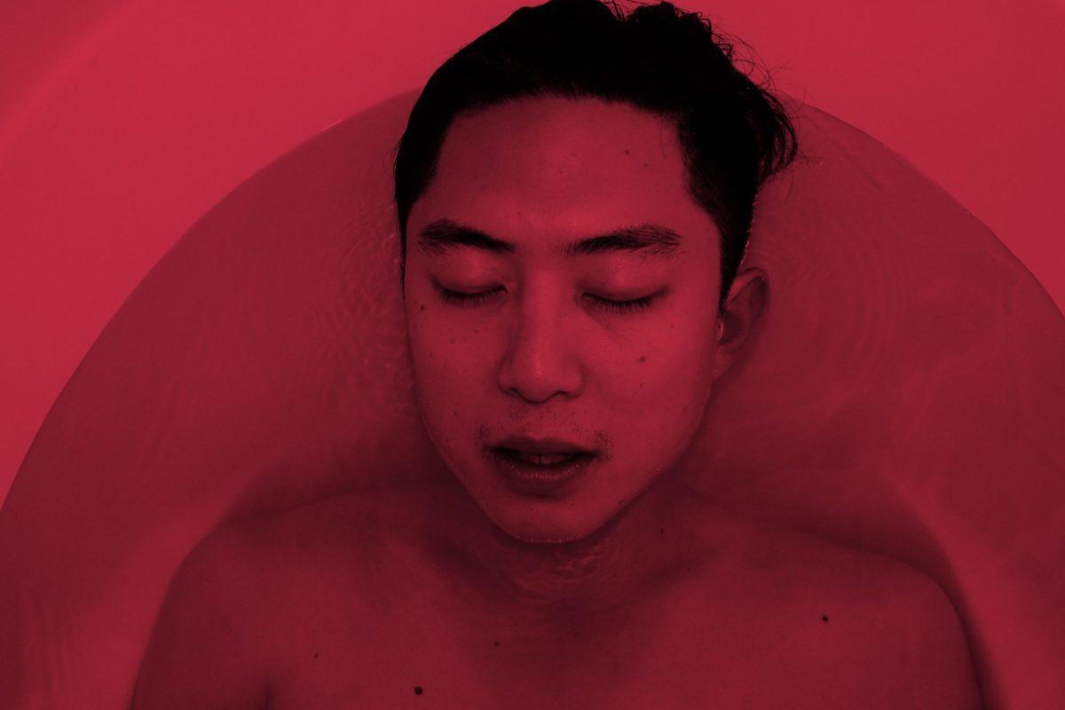 Eric Kim tub red