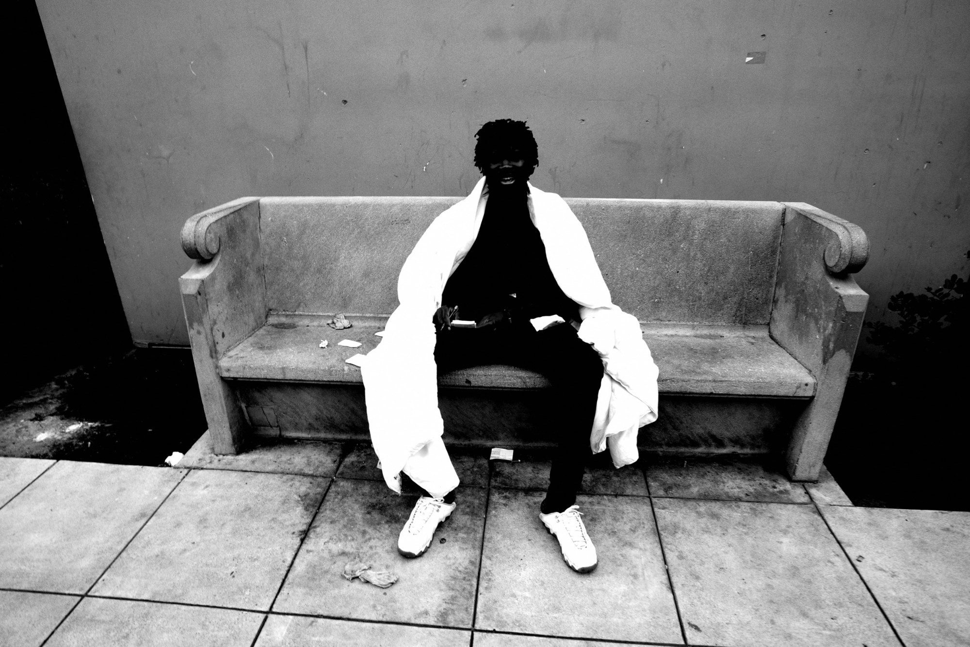 Jesus monochrome downtown la