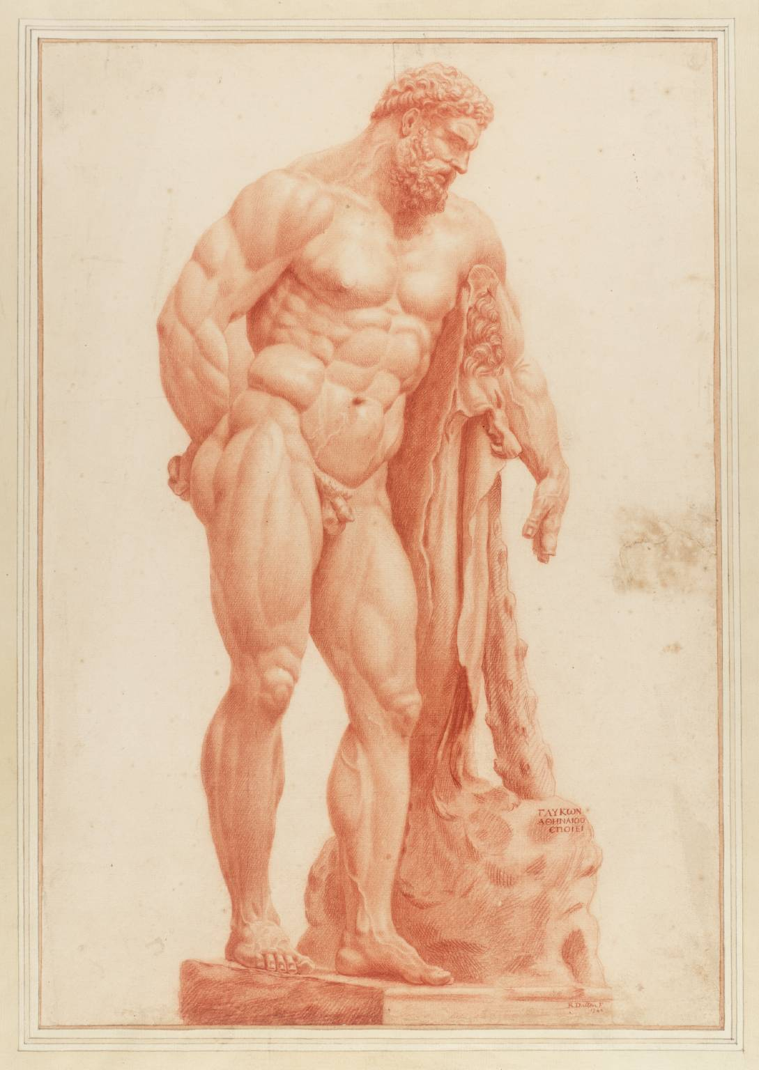 The Farnese Hercules 1742 Richard Dalton 1715 or 20-1791 Purchased as part of the Oppé Collection with assistance from the National Lottery through the Heritage Lottery Fund 1996 http://www.tate.org.uk/art/work/T08241