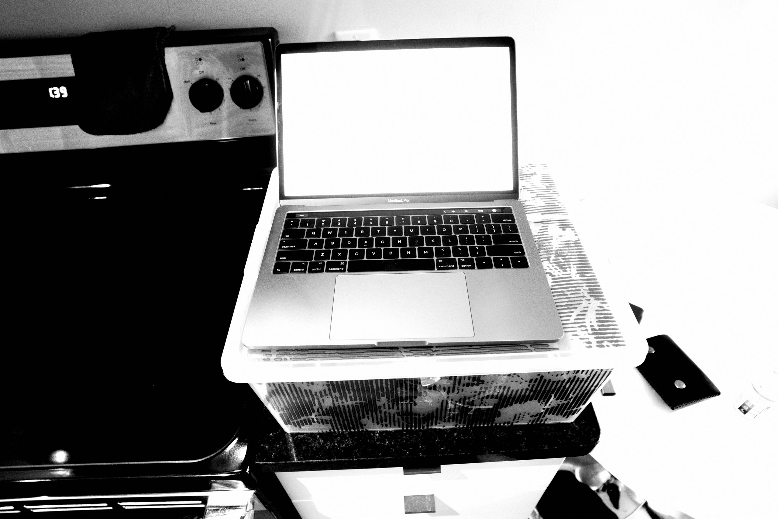 My laptop and ghetto standing desk