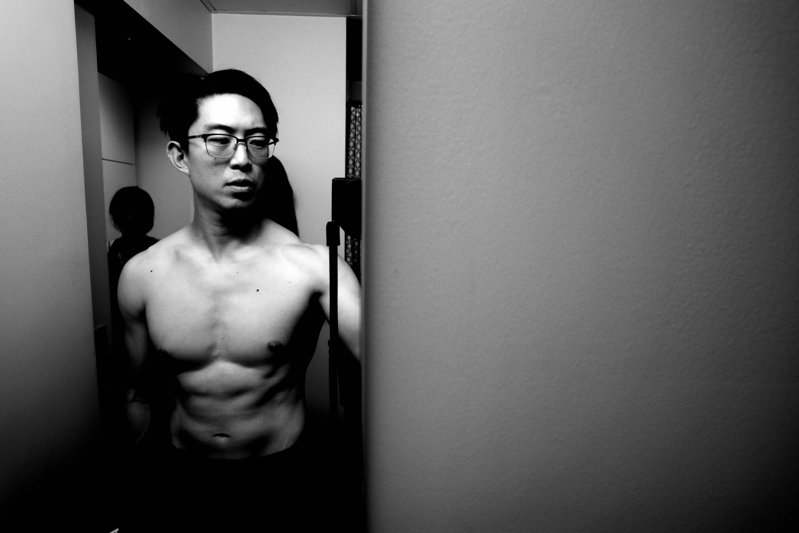 Selfie body muscle chest