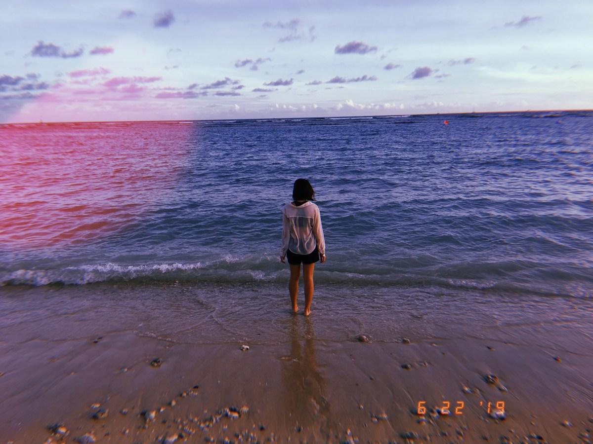 Cindy at the beach. Hawai'i, 2019