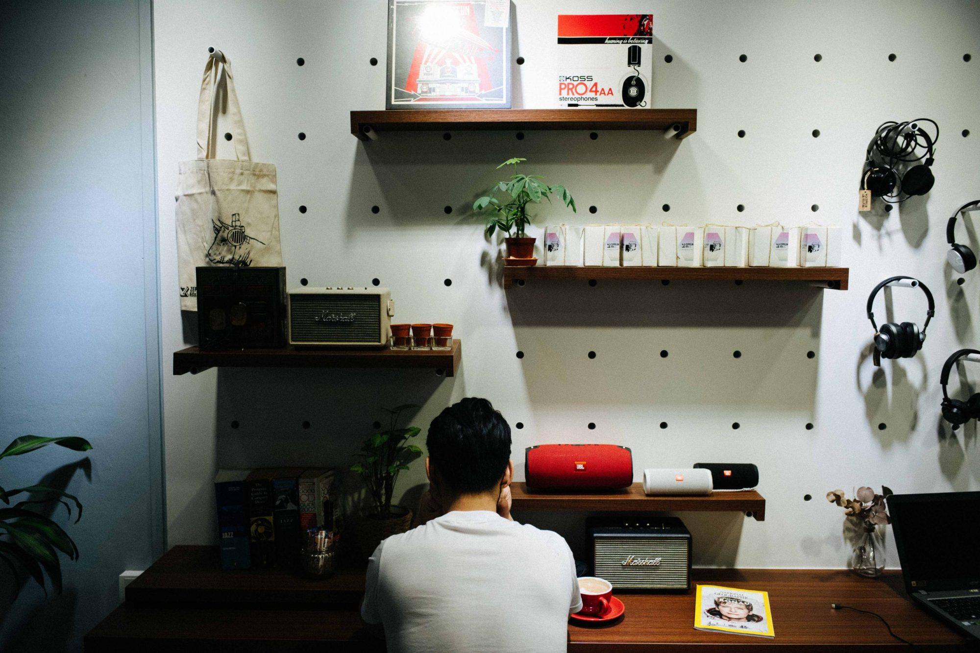Audiophile coffee shop. Singapore
