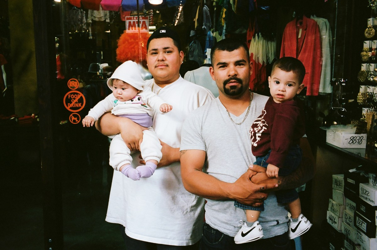 Father and sons. Downtown LA.