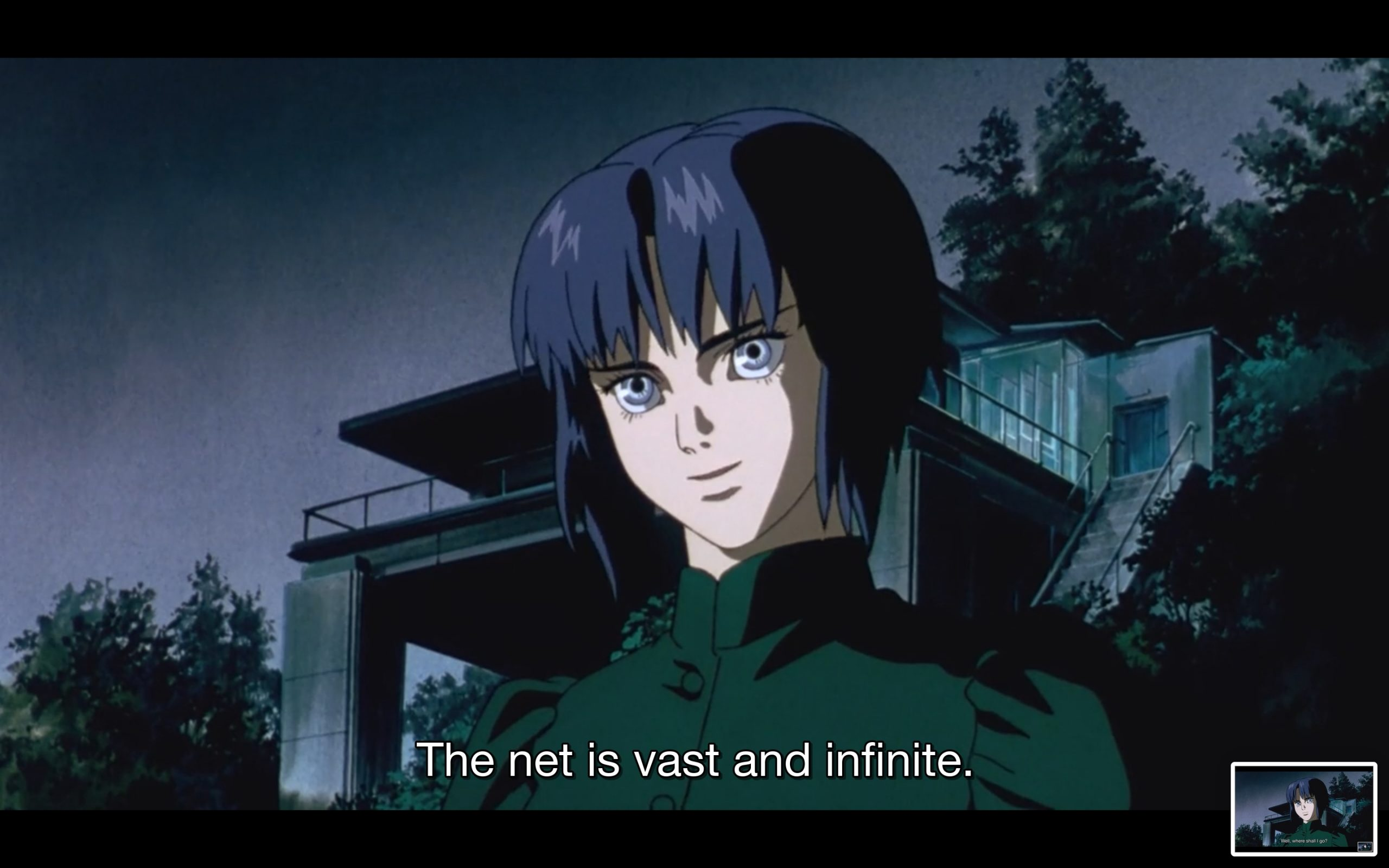 The net is vast and infinite — ghost in the shell anime