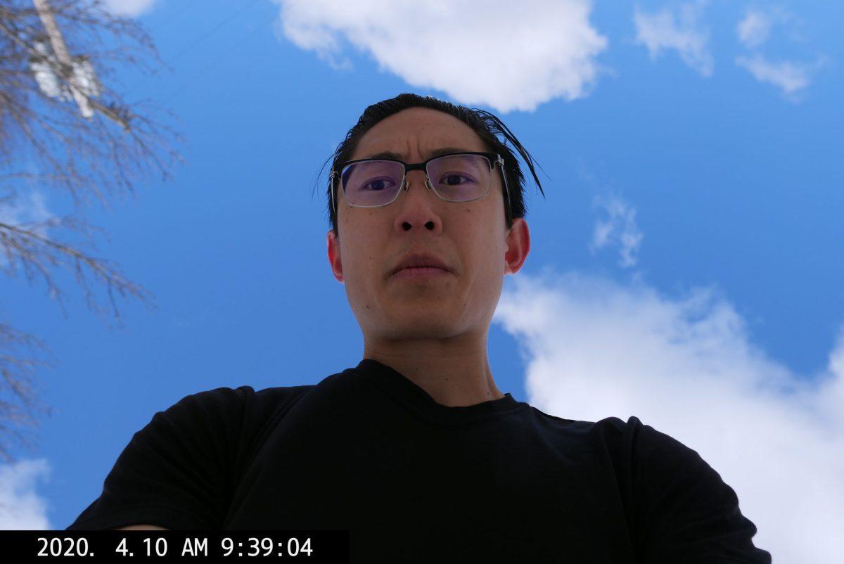selfie ERIC KIM low angle