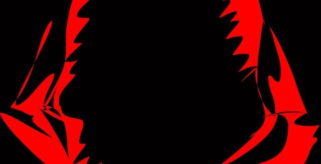 Shark red black teeth