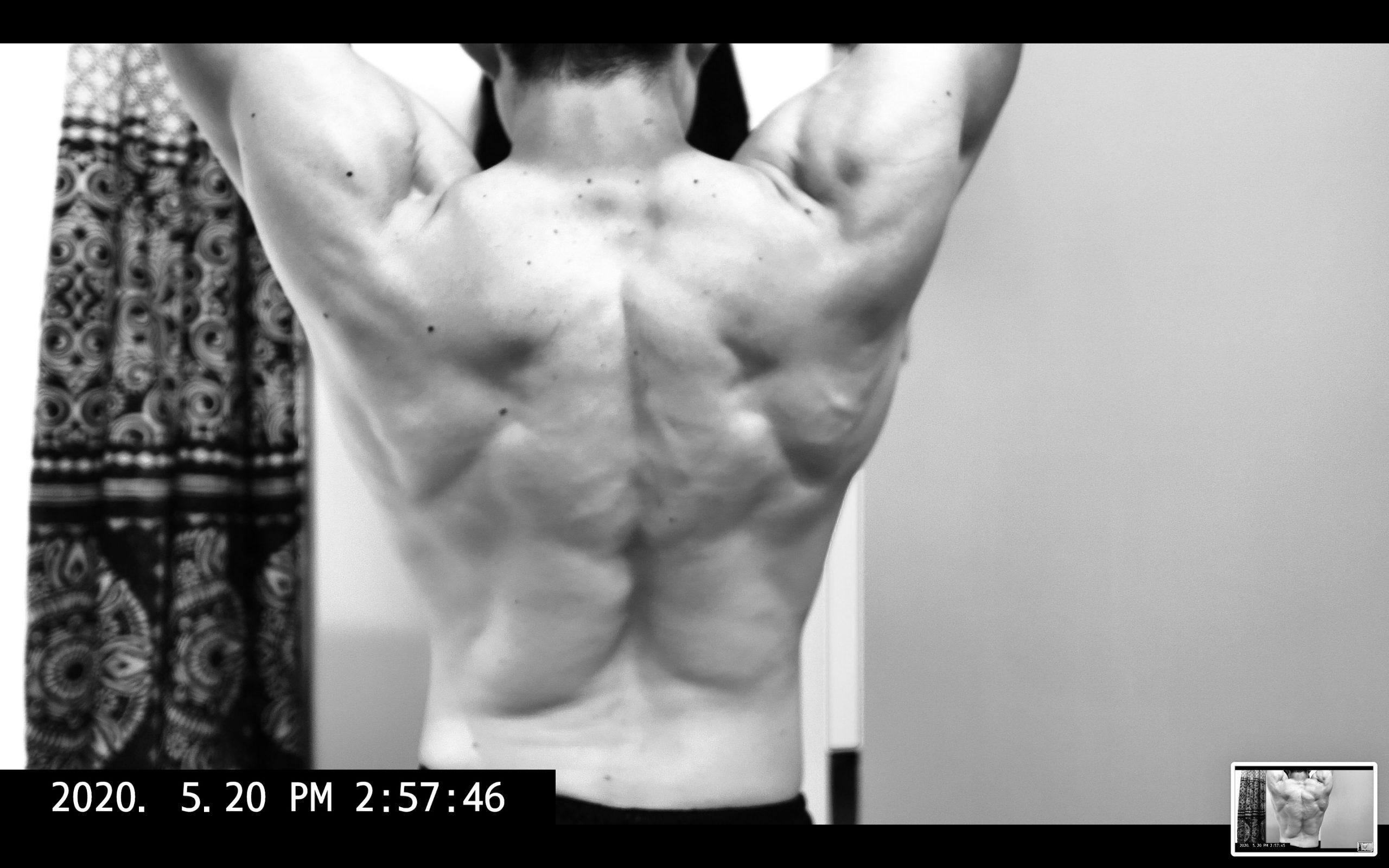 back muscle flex