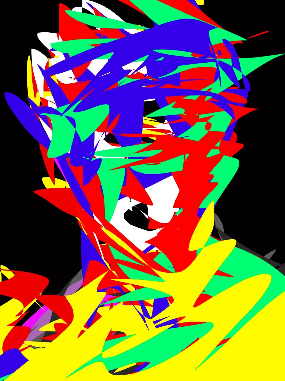 Abstract David head eric kim Art