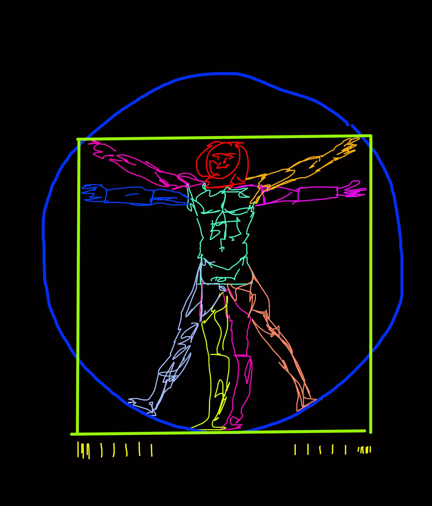 vitruvian man ERIC KIM abstract
