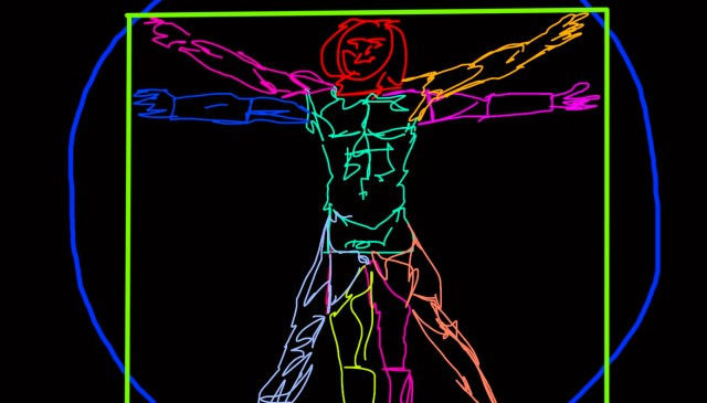 vitruvian man ERIC KIM abstract
