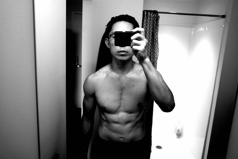 front ERIC KIM muscle flex