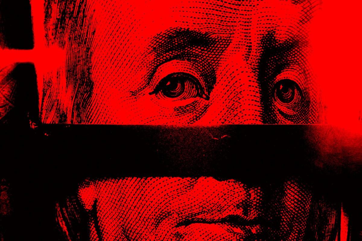 Benjamin franklin red black