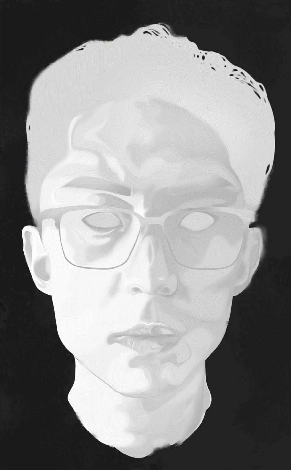 selfie ERIC KIM statue