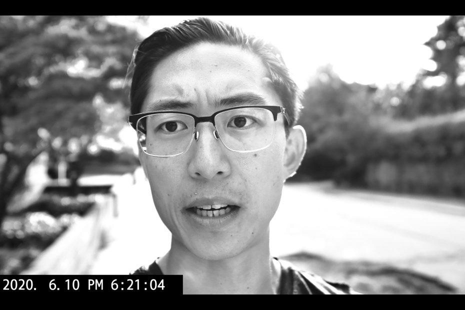 black and white selfie ERIC KIM