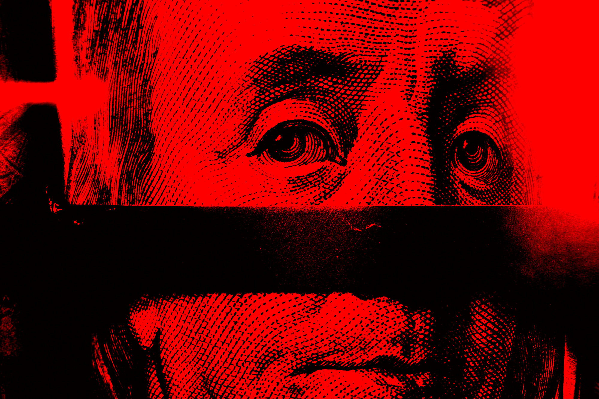 Benjamin Franklin money red