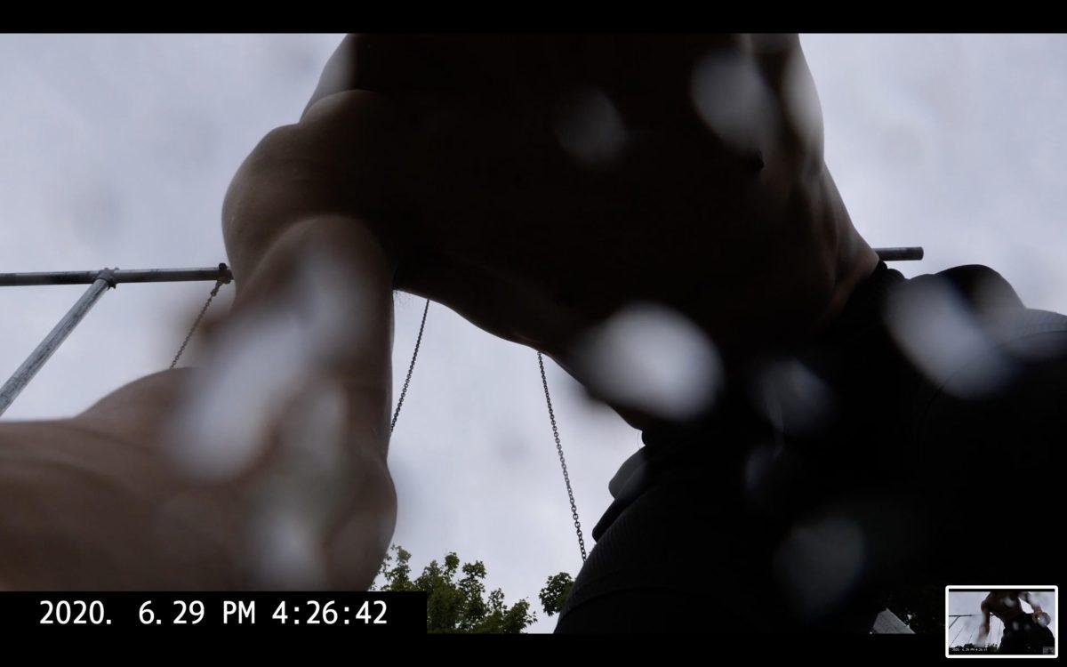 black shadow ERIC KIM selfie