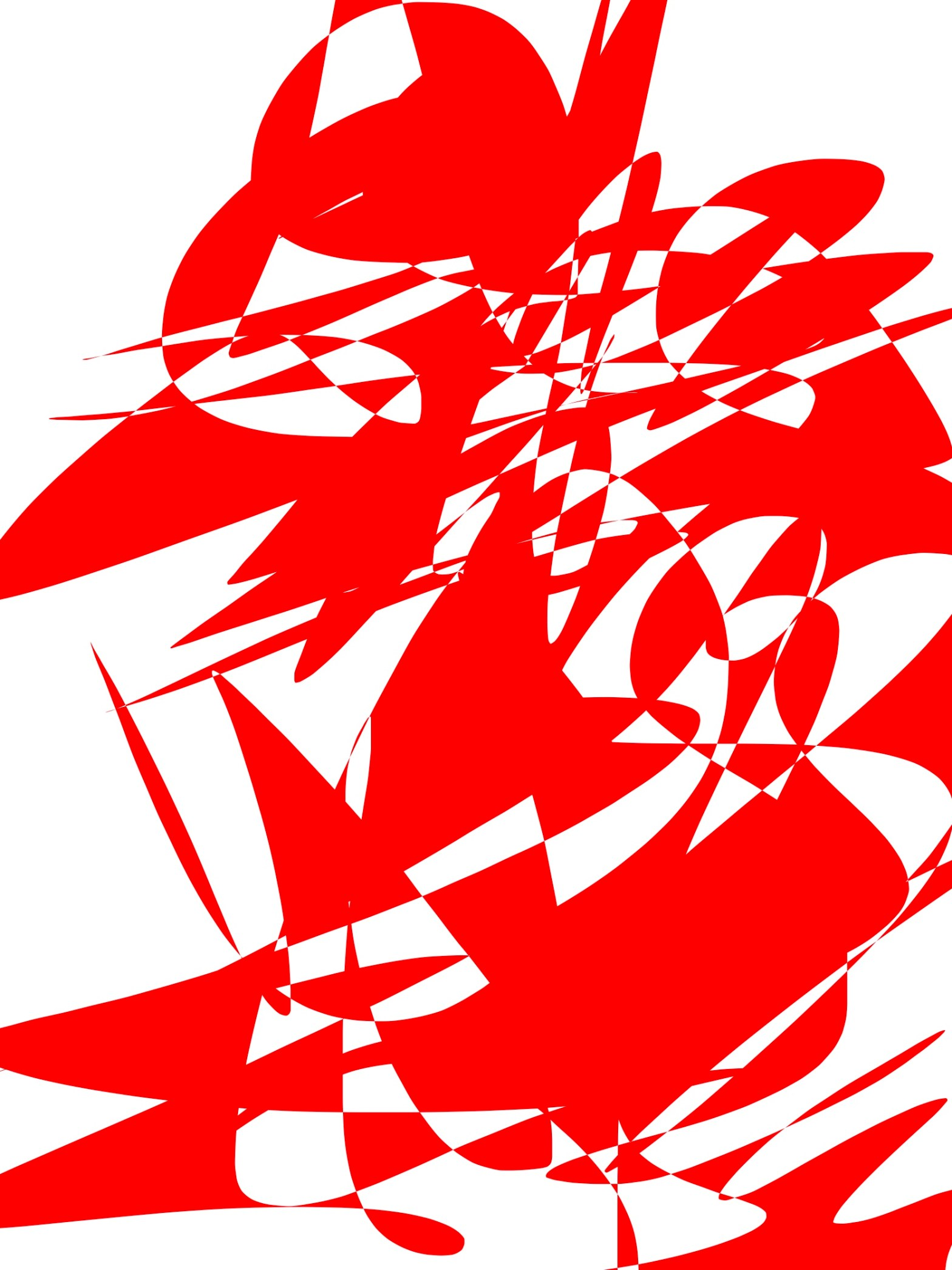 Red white abstract