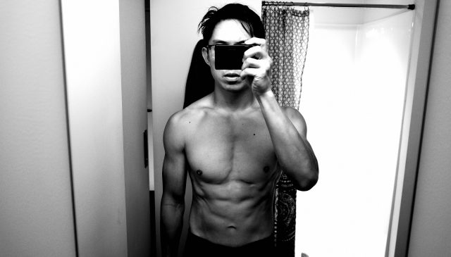 Front selfie ERIC KIM muscle