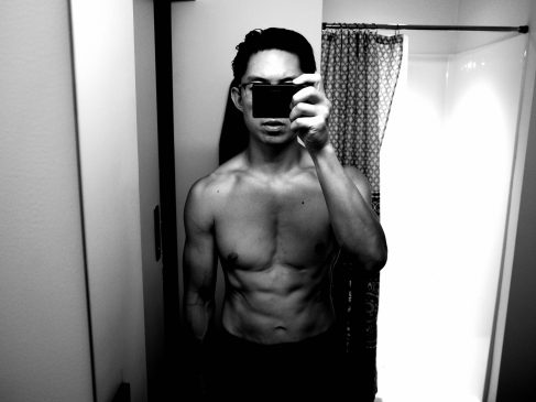 front selfie muscle