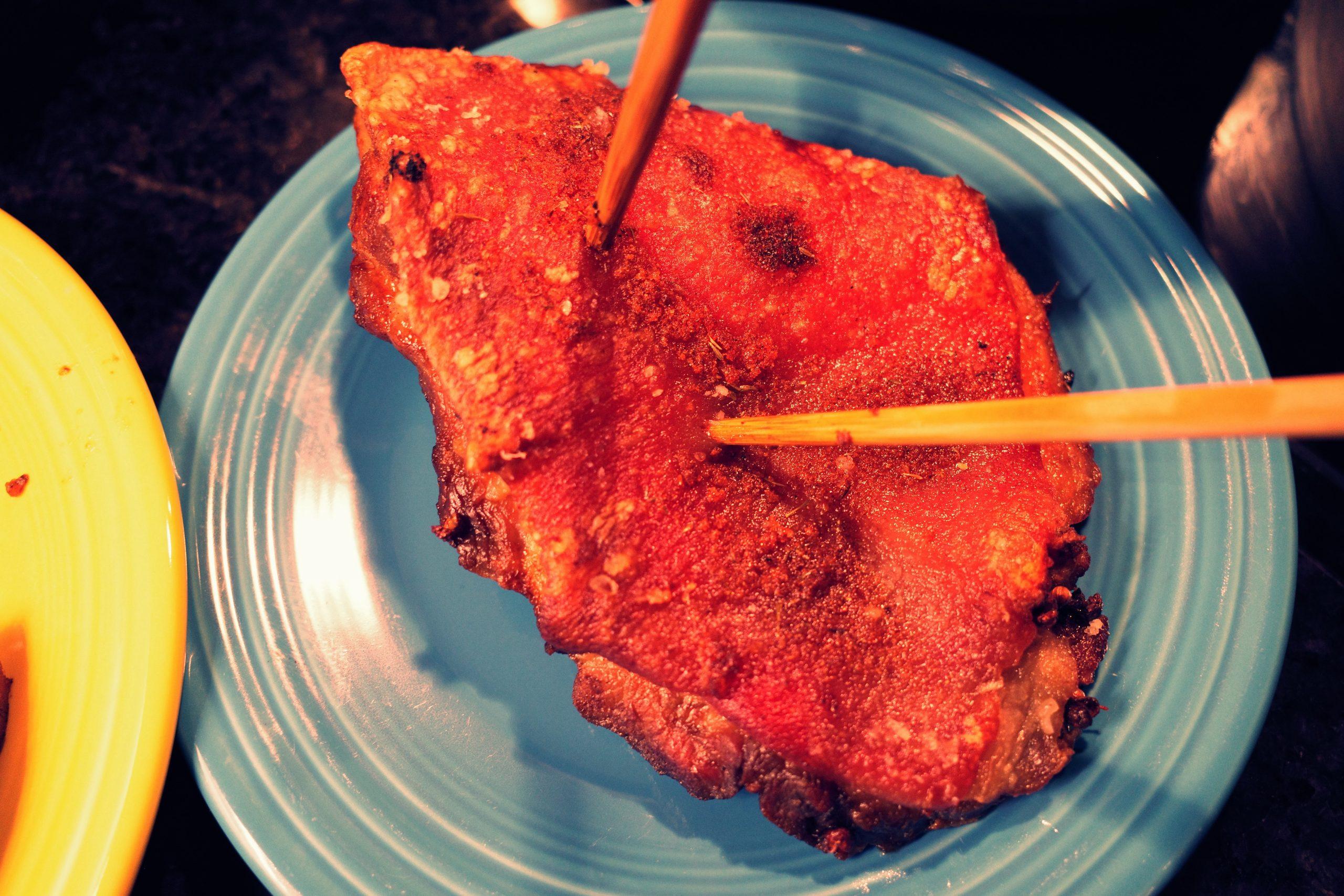 meat pork belly crispy