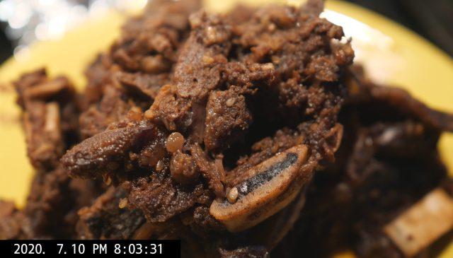 meat gogi short ribs closeup