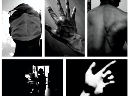 black and white collage ERIC KIM