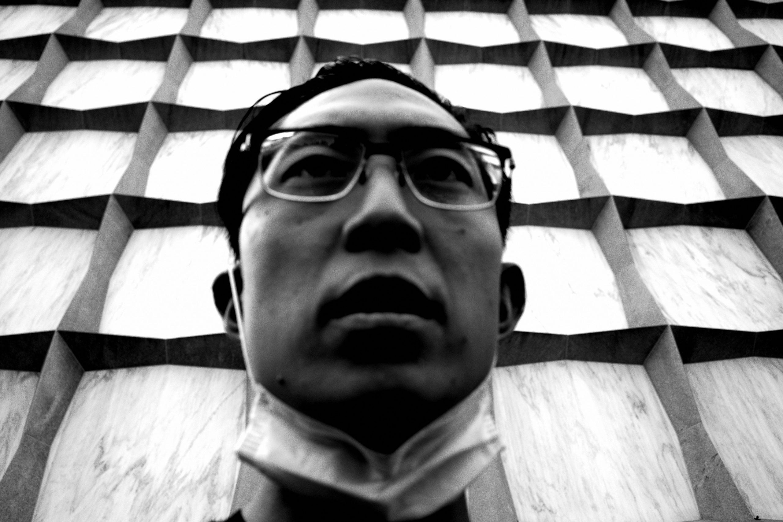 selfie black face mask ERIC KIM