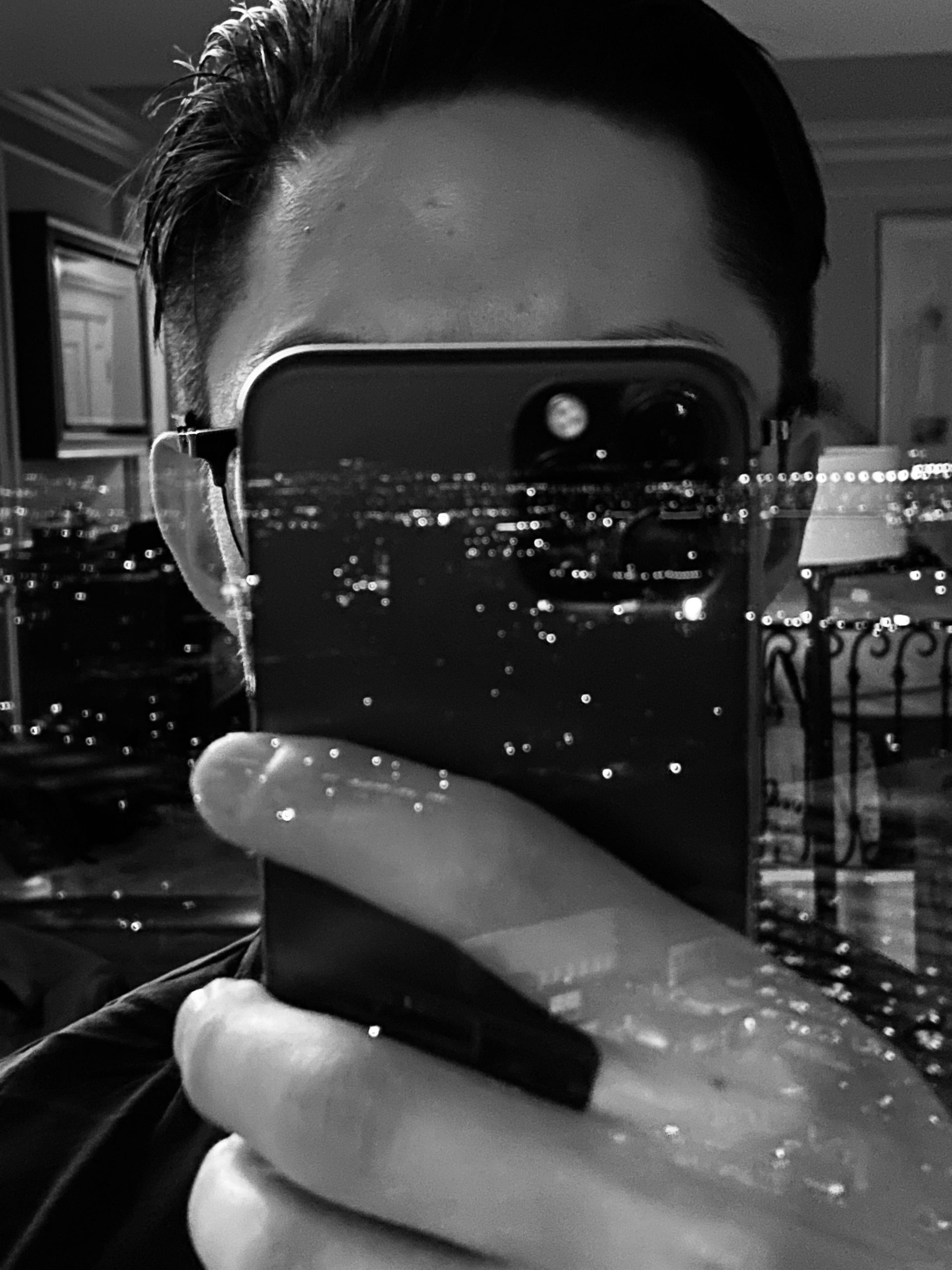 black and white iPhone pro selfie Vegas