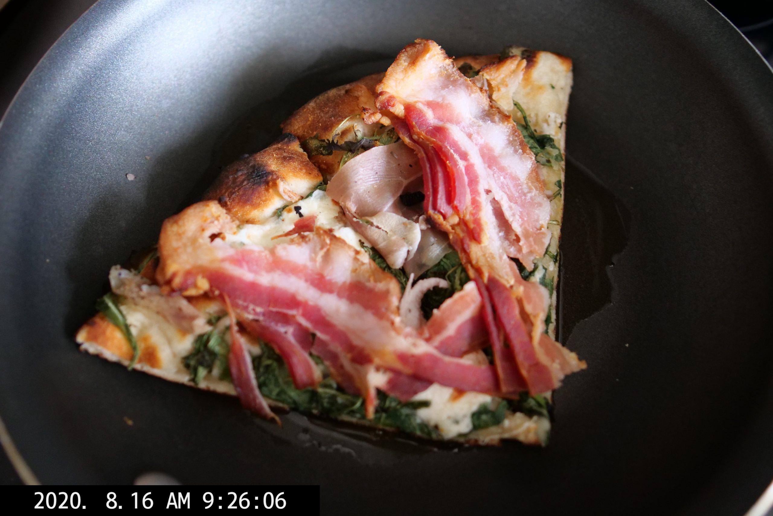 food camera Lumix pizza bacon