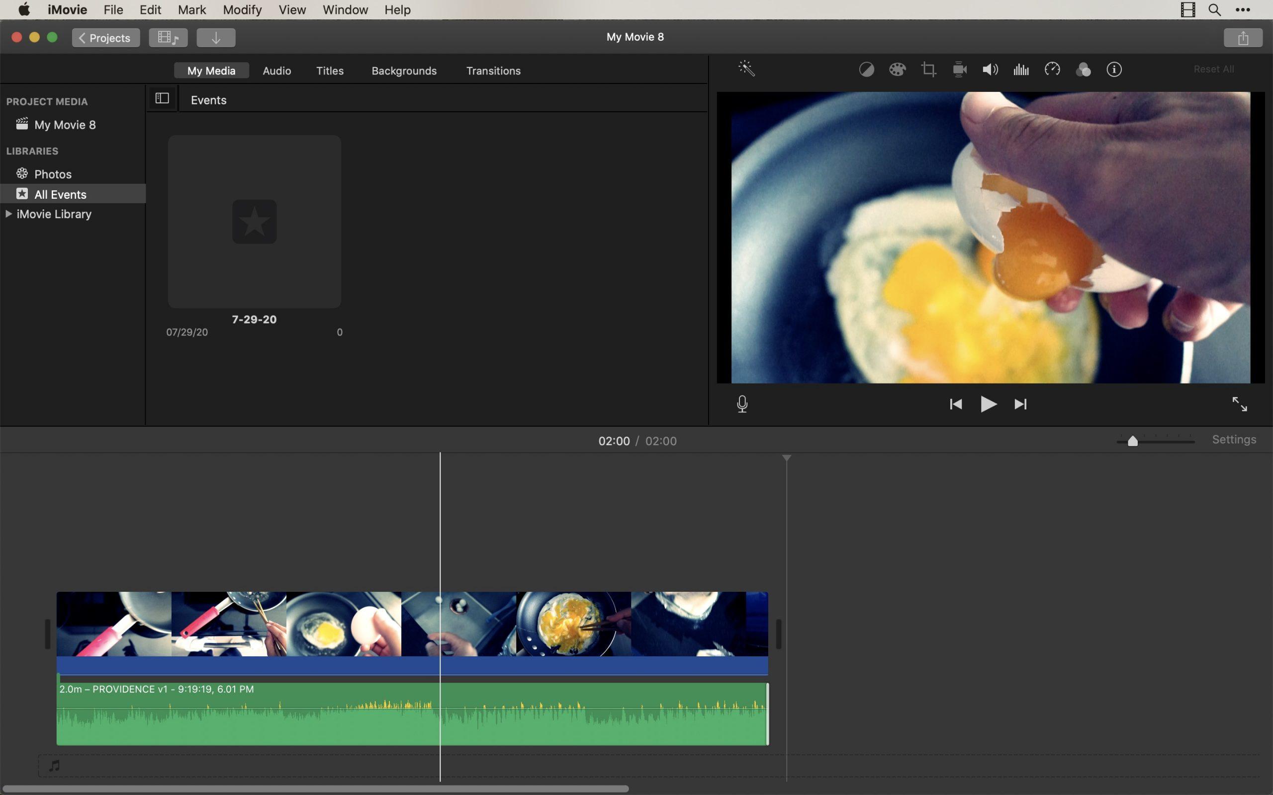 eggs iMovie