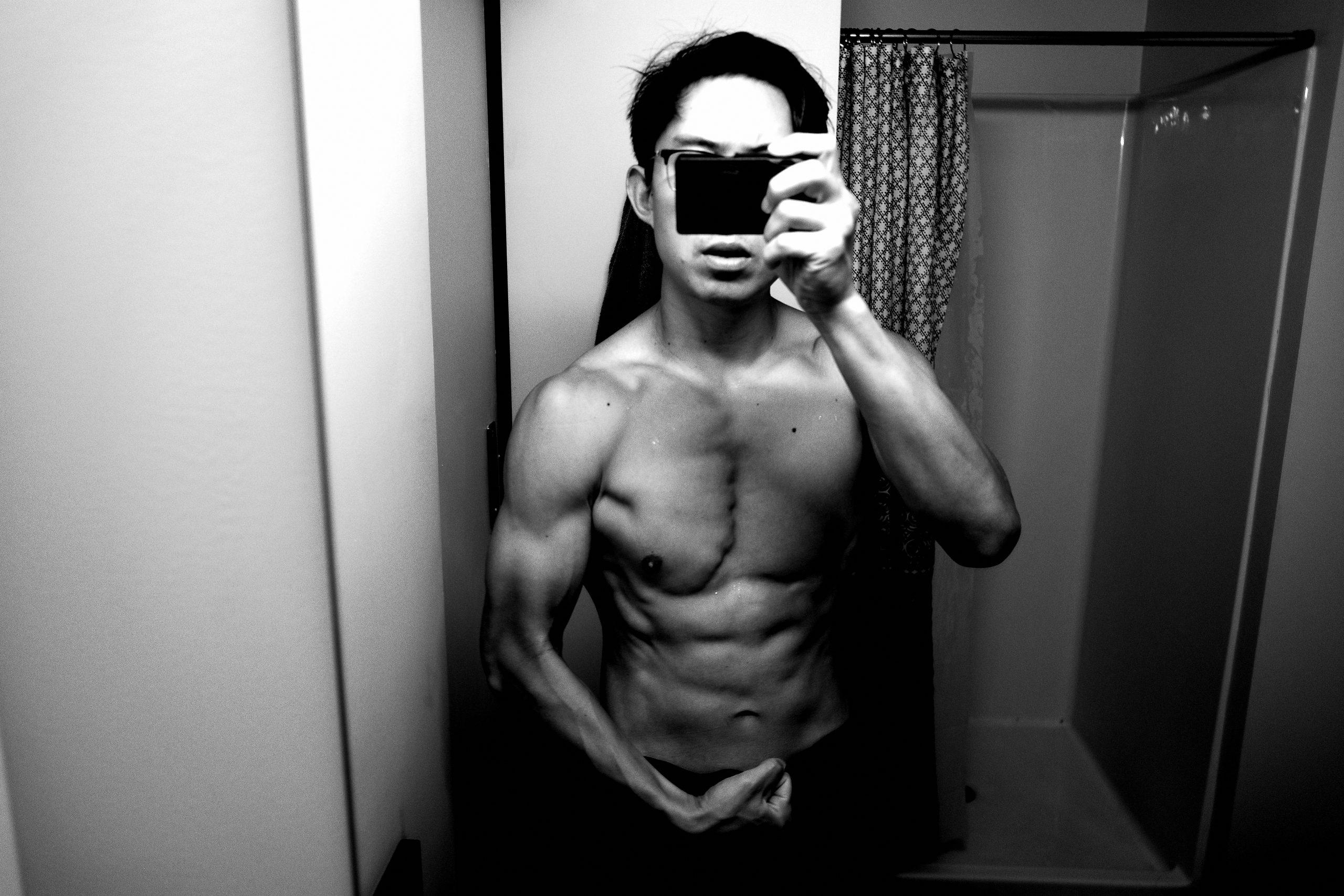 Eric flex muscle
