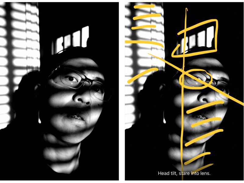 Selfie ERIC KIM diptych yellow composition