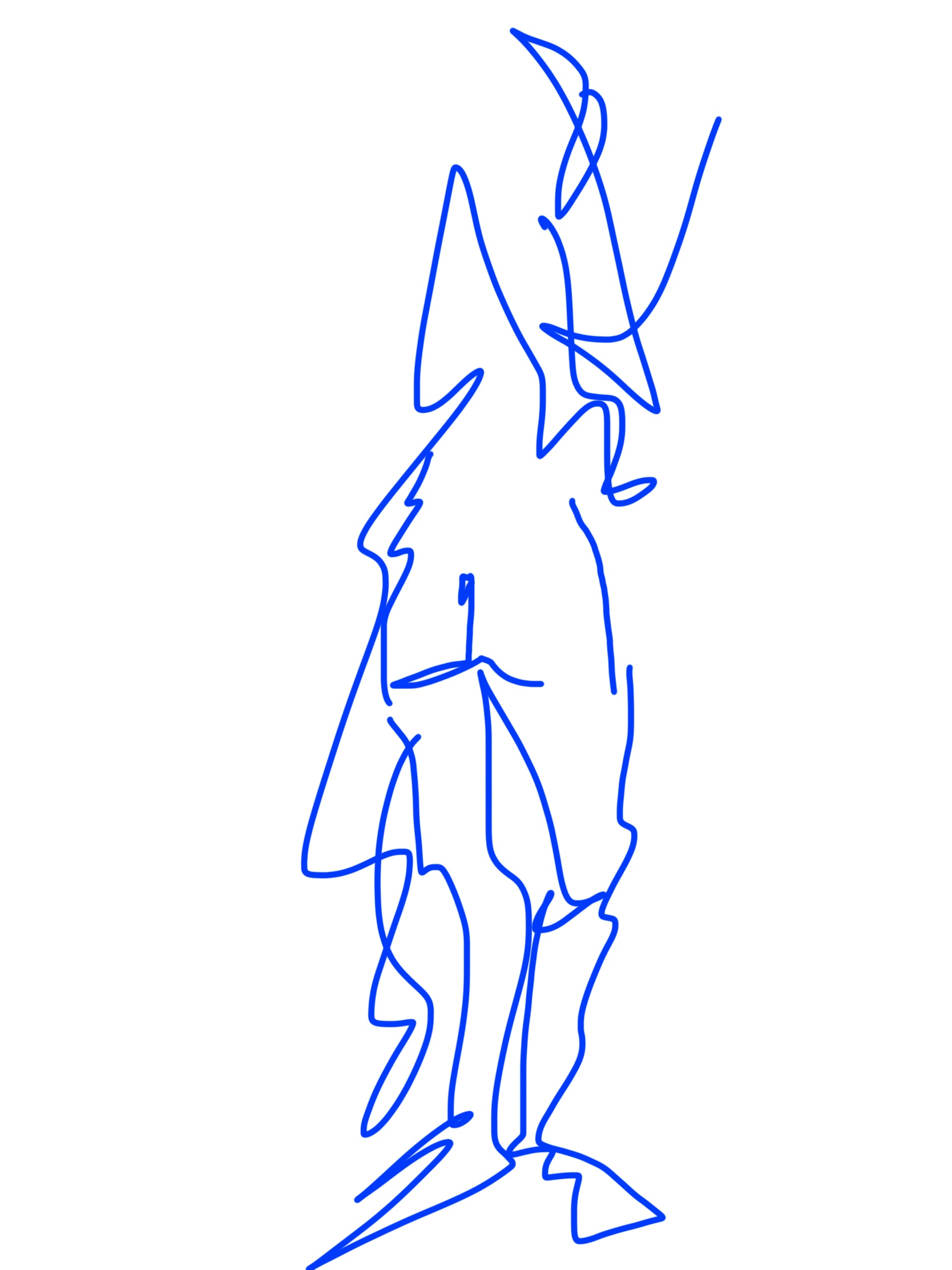 woman backside composition sketch
