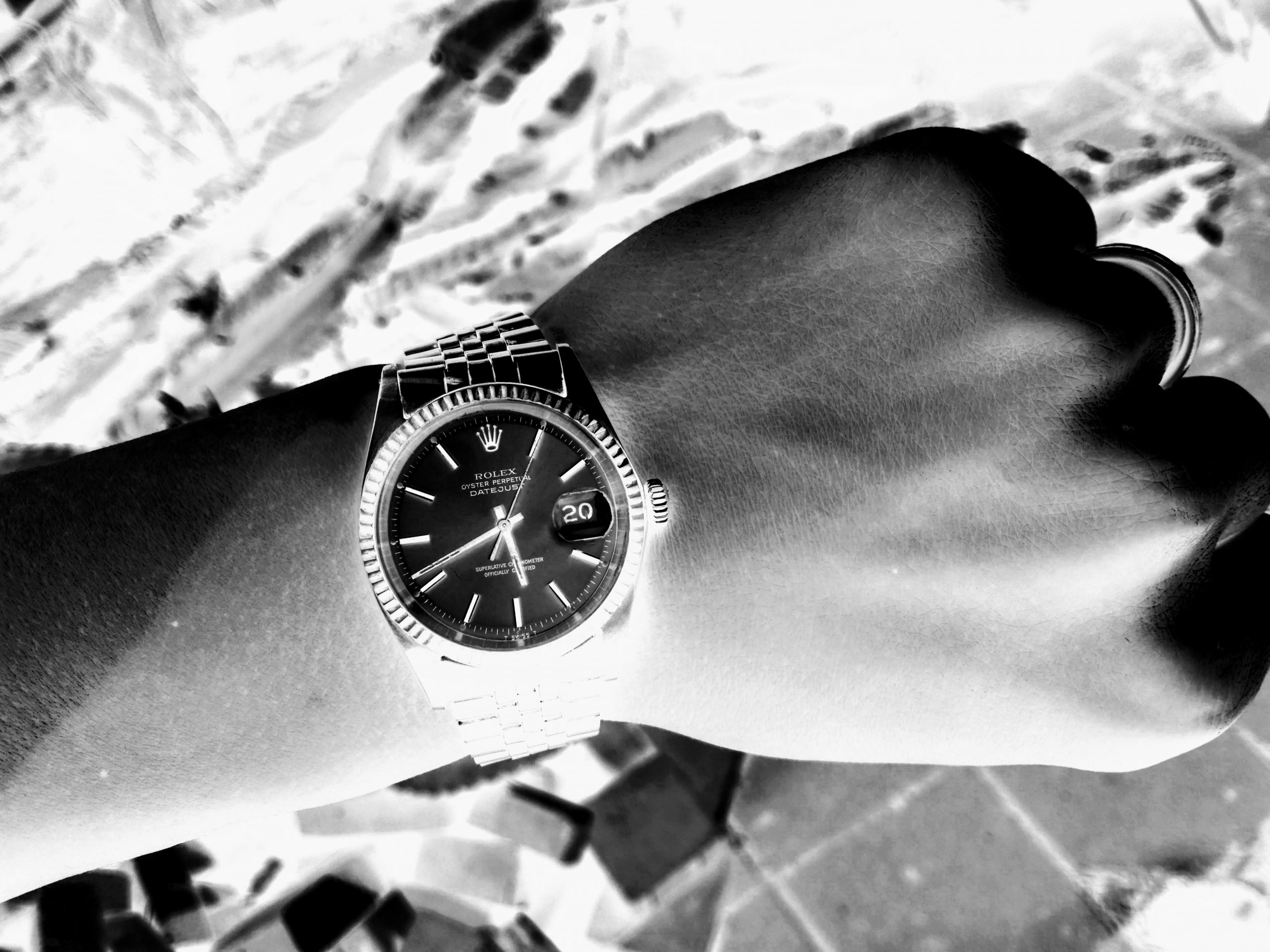 watch rolex inverse black and white